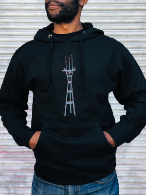 Sutro Tower at Night Hoodie