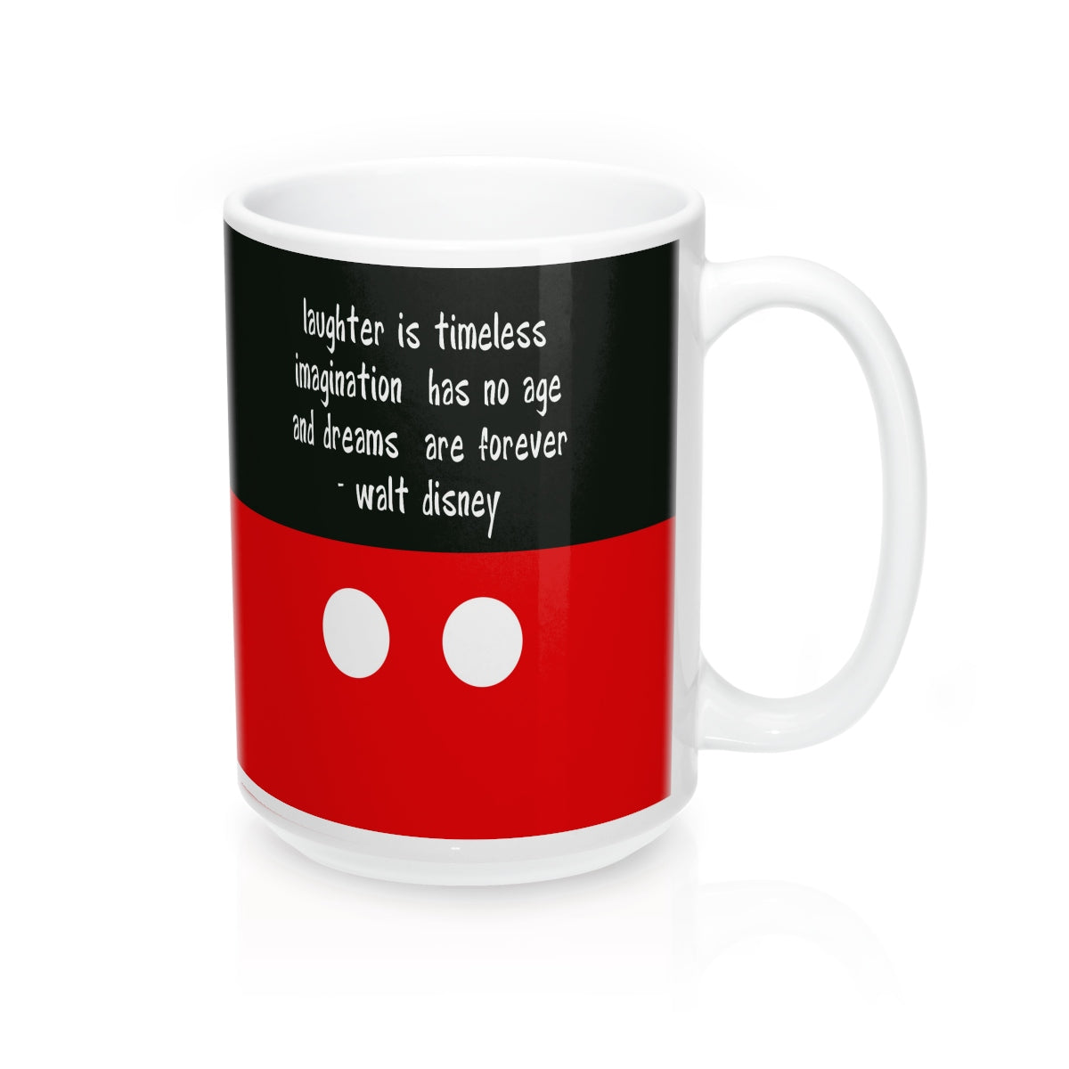 """Laugher is timeless"" Mugs"