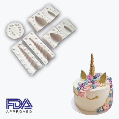 Unicorn Birthday Cake Silicone Molds(7 Pcs)