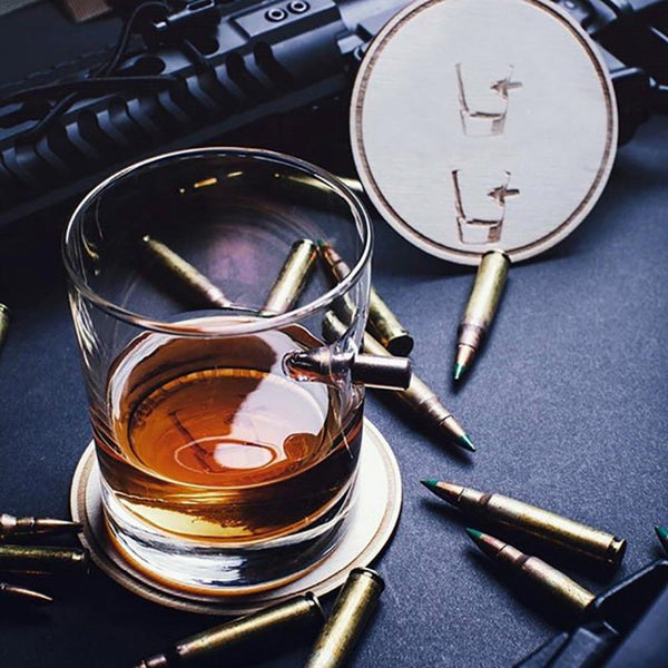 Lucky Bullet Whisky Glass Cup