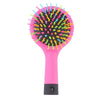Rainbow Volume Anti-static Magic Hair Curl Straight Massage Comb Brush With Mirror