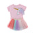 Unicorn Top Short Sleeves T-shirt and Lace Tutu For Girls