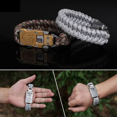 Heavy-Duty Paracord Knife Survival Bracelet
