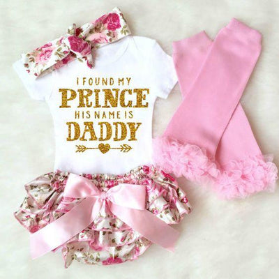 Baby Girls Romper - I Found My Prince His Name Is Daddy