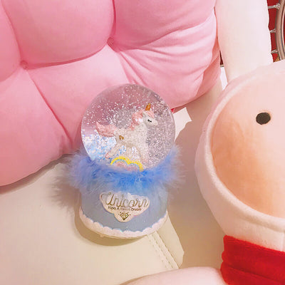 PRE-SALE Unicorn Musical Snow Globe With Light Changing