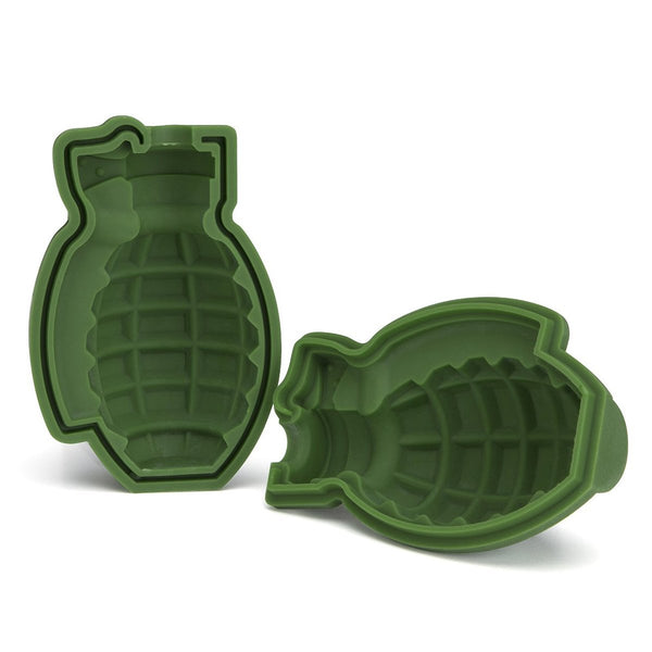 Green 3D Grenade Large Ice Cube Mold