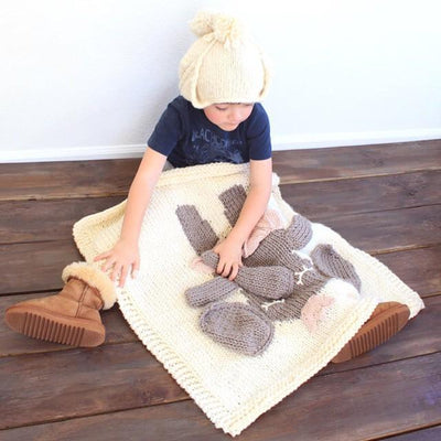 Hand-knitted Animal Blanket