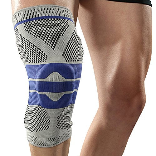 0669ef4f6d Nylon Silicon Knee Sleeve - Perfect Protection for Sports (1 Pair ...