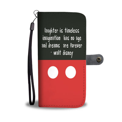 Laughter  is timeless WALLET PHONE CASE