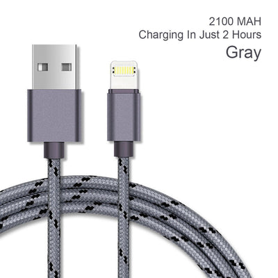 USB Cable, Nylon Braided Lightning Cable (3.3Ft)  For iPhone & Andriod