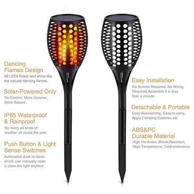 Solar Flame Light Lawn Lamps