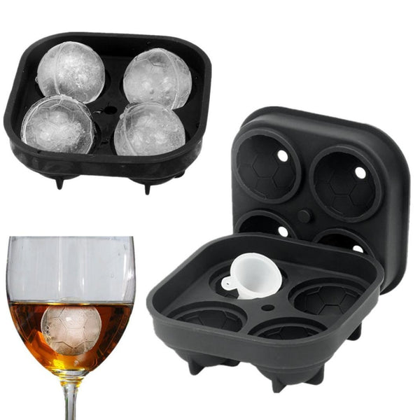 Football Shape 3D Ice Cube Mold