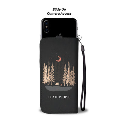 I HATE PEOPLE CAMPING Wallet Phone Case