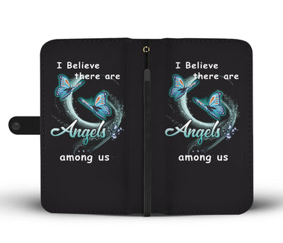 I Believe There Are Angels Among Us Wallet Phone Case