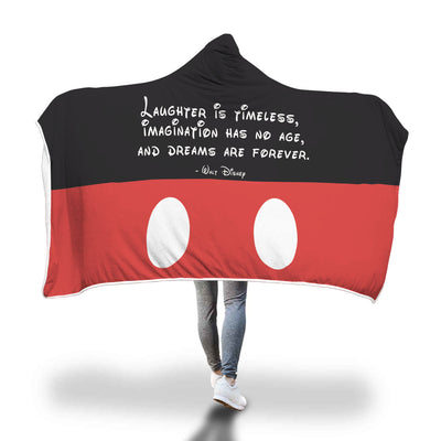 Laughter is Timeless Hooded Blanket