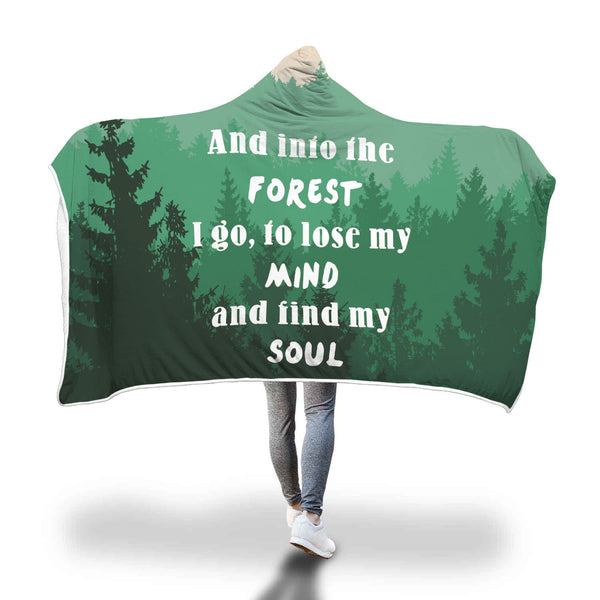 And into the forest hooded blanket