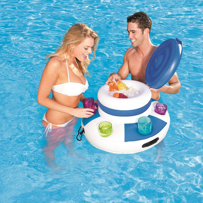 Inflatable Swimming Pool Cooler Floating Drinks Holder Water Bar Party Hot Tub