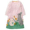 Baby Girls Animal Stripe Cotton Long Sleeve Dress