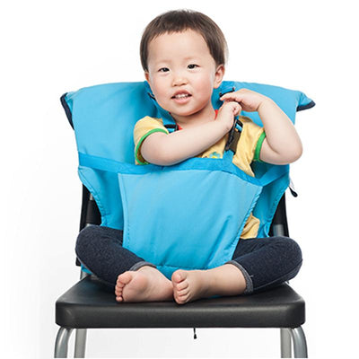 8ca30f3319c Portable Travel High Chair Booster Baby Seat Harness Washable Cloth Packable  Sack
