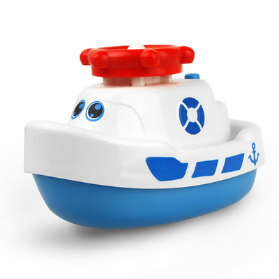 Electric Rotating Water Jet Boat Bathtub Toy for Boys and Girls