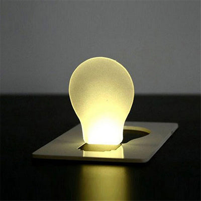 Foldable Pocket Card LED Lamp(Battery Included)