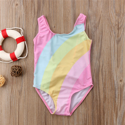 Girls Rainbow Swimsuit