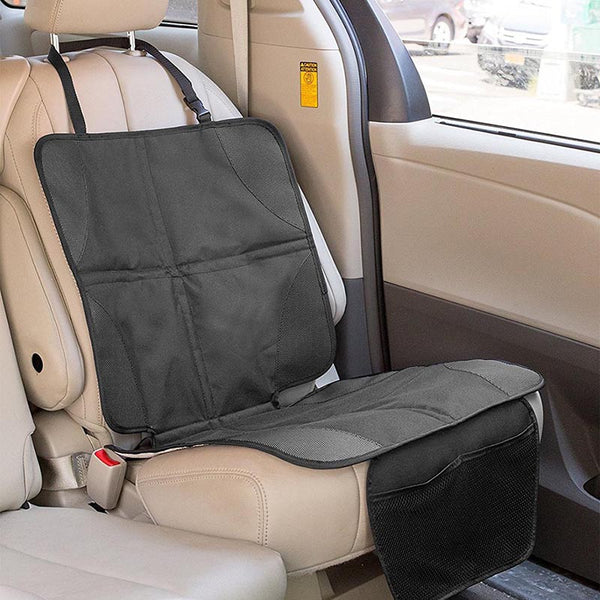 Car Seat Protector + Kick Mat With Organizer Pockets