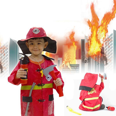Fire Chief Role Play Costume Dress-Up Set (8 pcs)