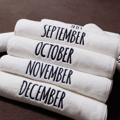 Men and Women 100% Cotton Monthly Towels