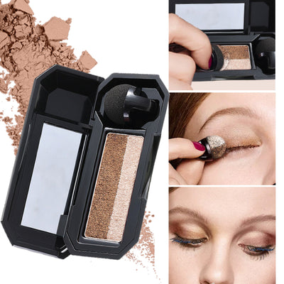 Perfect Dual-color Eyeshadow With BRUSH