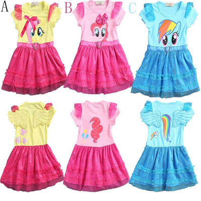 My Little Pony Girls' Dress with Ruffles and Wings