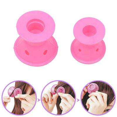 SILICONE, NO-HEAT HAIR CURLERS(10 curlers)
