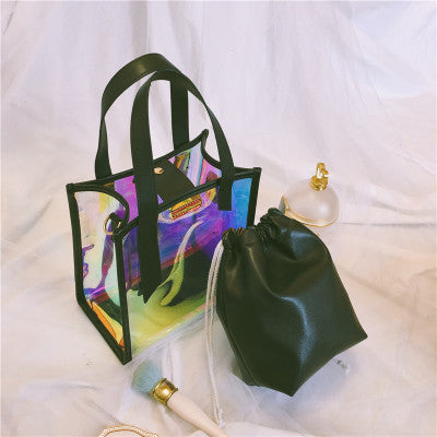 Women's Hologram Transparent Bag