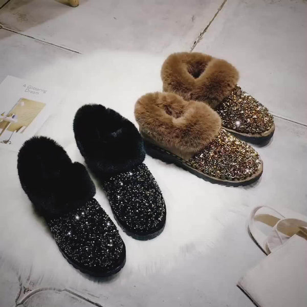 Glitter Snow Shoes