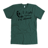 I Fish Therefore I'm Hooked Men tee shirt