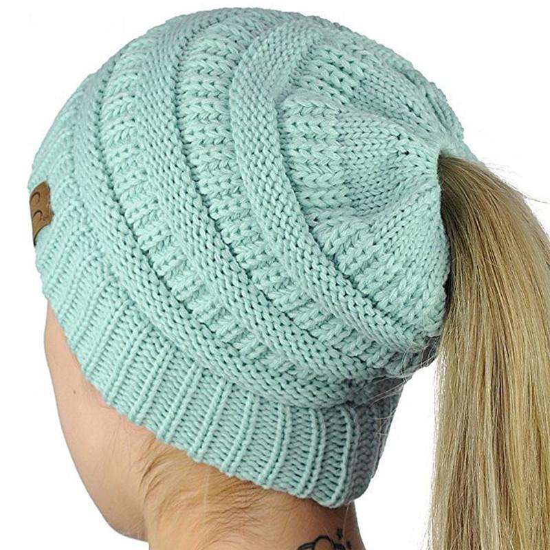Warm Winter Hat with Ponytail Hole - Daily Nice Stuff c98861196d2