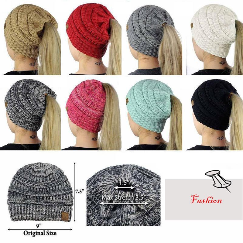 Warm Winter Hat with Ponytail Hole - Daily Nice Stuff a1ecf2f3ff3
