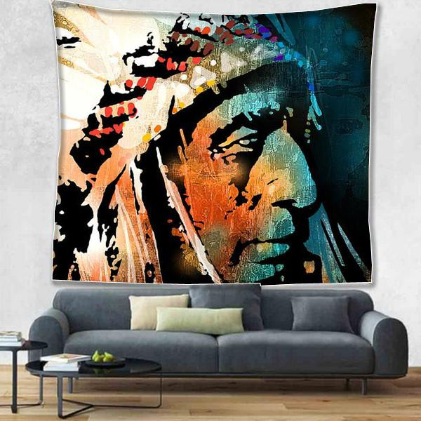 Native American Indians Tapestry Wall Hanging