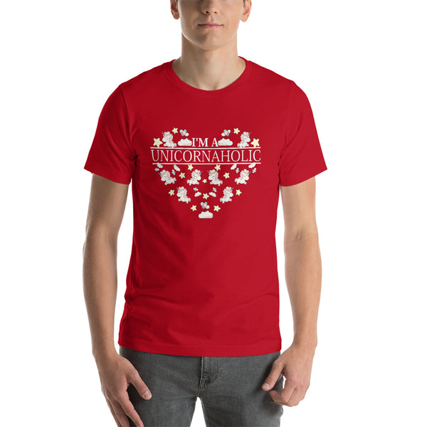 Unicorn Heart Shaped Short-Sleeve Unisex T-Shirt
