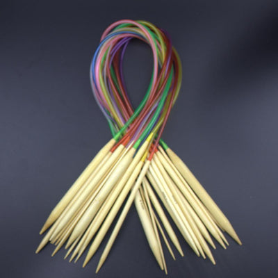"Multi-color 18Pcs/set 16"" 40cm CIRCULAR KNITTING NEEDLES"