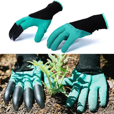 Garden Gloves for Digging & Planting - No More Worn Out Fingertips - Claws on RIGHT Hand - Womens & Mens Unisex