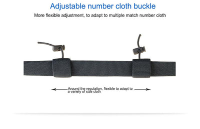 Marathon Race Number Belt With Gel Holder