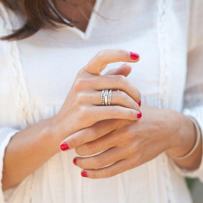 Hand-molded Stacking Rings (Sterling Silver)