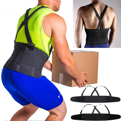 Working Support Back Brace Lumbar Belt Adjustable Straps Pain Relief For Women Men Neoprene Strap For Lower Waist Therapy Portable Pain Daily Care