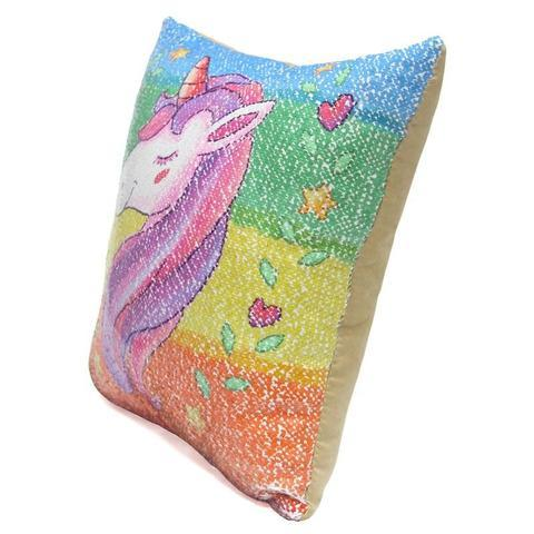 Unicorn Sequins Pillows Cover Nice Stuff Daily