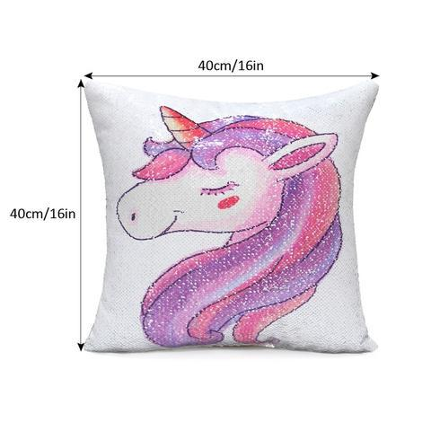 Unicorn Sequins Pillows Cover