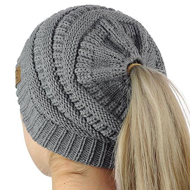 Warm Winter Hat with Ponytail Hole - Daily Nice Stuff d6bd9e749b9