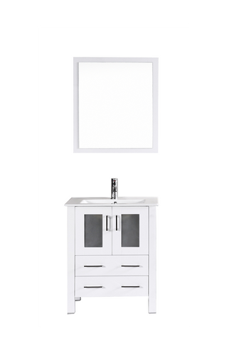 "Bosconi AW124U 24"" White Single Vanity"
