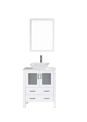 "Bosconi AW130S 30"" White Single Vanity"