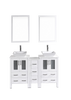 "Image of Bosconi AW224S1S 60"" White Double Vanity"